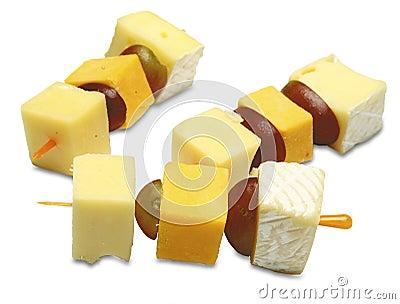 Canapes com queijo