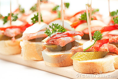 Canapes with fish