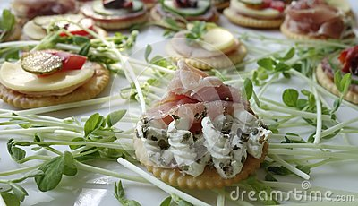 Canapes On Sprouts