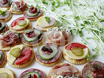 Canapes and Sprouts.
