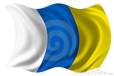 Canary islands flag isolated