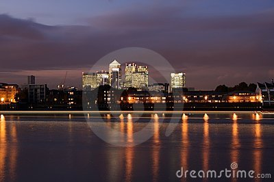 Canary Wharf Editorial Stock Photo