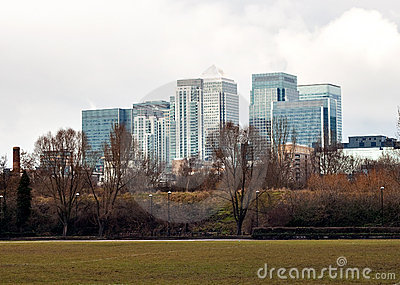 Canary Wharf buildings in London