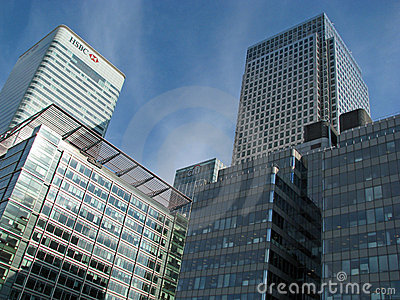 Canary Wharf business district in London Editorial Stock Image