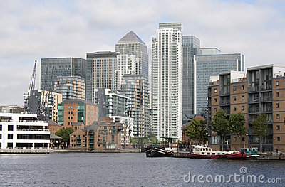 Canary Wharf and the Dosclands canals