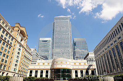 Canary Wharf London England UK from Cabot Square