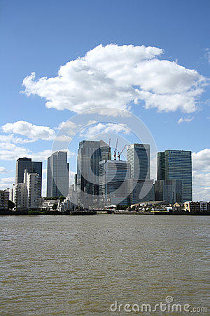 Canary Wharf, London Editorial Stock Image