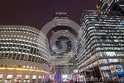 Canary Wharf office buildings Editorial Image