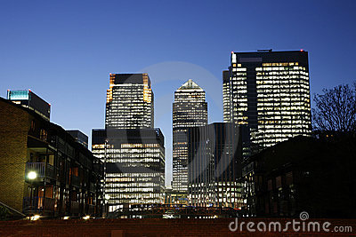 Canary Wharf Skyline at Night