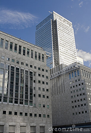 Canary Wharf skyscrapers in London