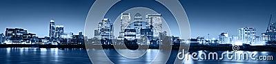 Canary Wharf at twilight