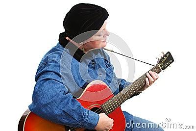 Cancer Survivor Playing Guitar