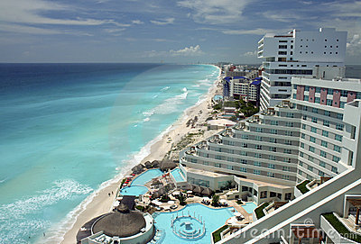 Cancun aerial view