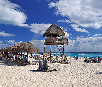 Cancun beach Editorial Photo