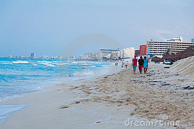 Cancun Beach Mexico Editorial Photo