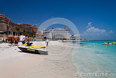 Cancun Beach Mexico Editorial Stock Photo
