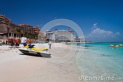 Cancun Beach Mexico Editorial Stock Photo