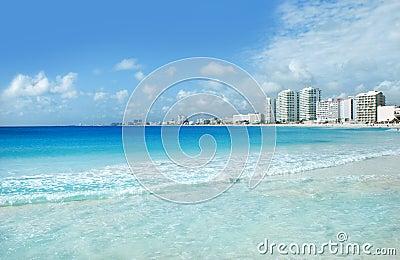 Cancun coast and hotels