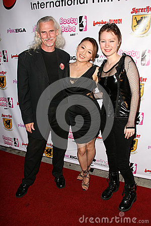 Canden Toy, Reiko Yamaguchi and Stefanie Von Guest at the Boobs and Blood International Film Festival Opening Night, New Beverly C Editorial Stock Photo