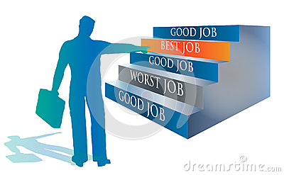 Candidate Selecting the Best Job Illustration