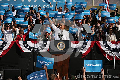 Candidato presidenziale Barack Obama Immagine Stock Editoriale
