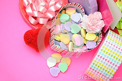 Candies in box