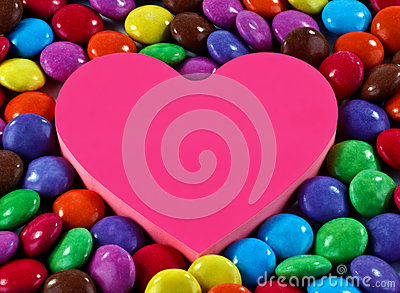 candy and heart
