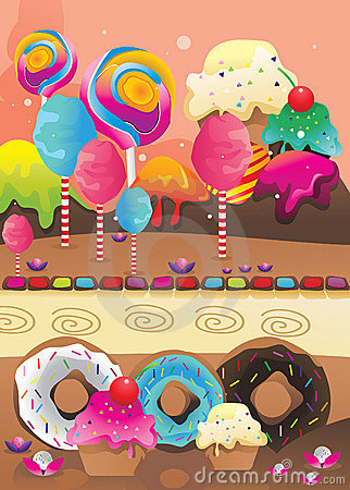Candies and donuts
