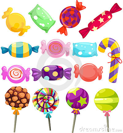 Free Candies Set Royalty Free Stock Photos - 24254448