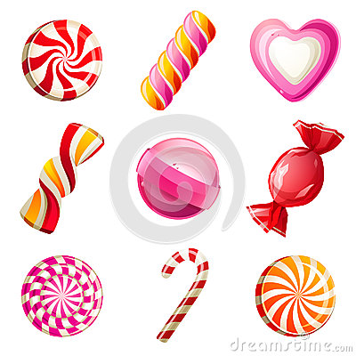 Free Candies Set Royalty Free Stock Images - 31743559