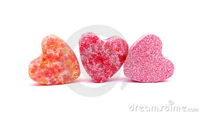 Candies sweet hearts confectionery