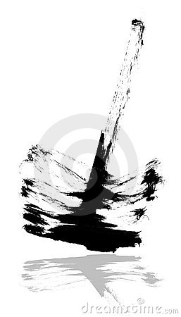 Candle Abstract china ink background