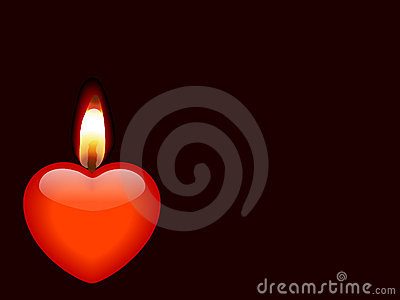 Candle as heart