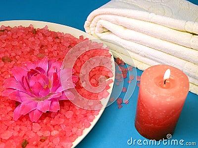 Candle and bath salt
