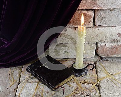 Candle with Bible