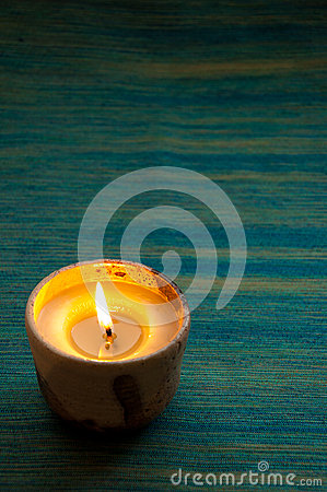 Candle in blue