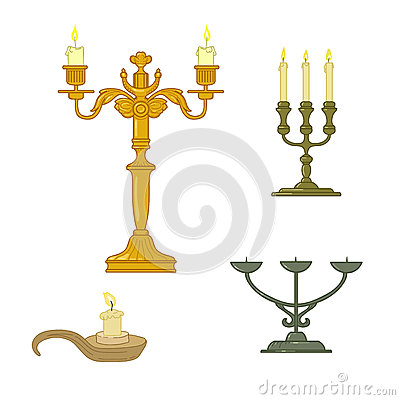Candle and candelabrum