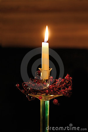 Candle for Christmas holiday