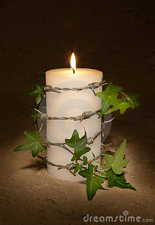 Candle for freedom
