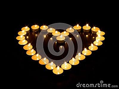 Candle hart