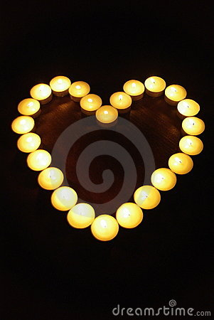 Free Candle Heart Stock Photography - 17297152