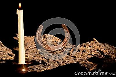 Candle and Horseshoe
