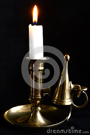 Free Candle In Candle Holder Royalty Free Stock Photos - 43777138