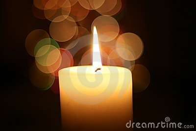 Candle light at Christmas