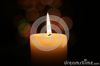 Candle light at Christmas