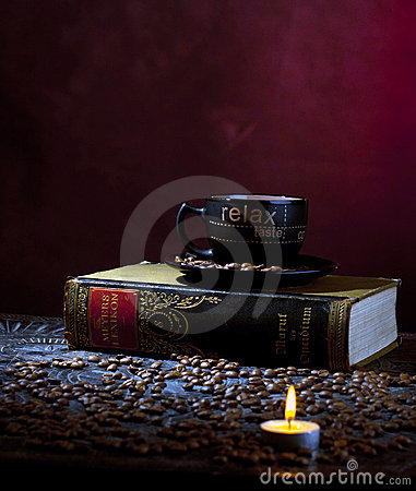 Candle light and coffee