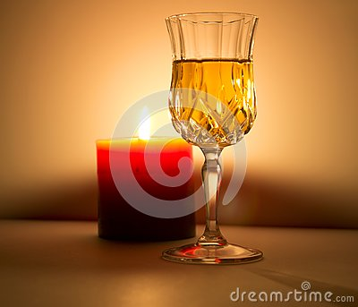 Candle and liquor