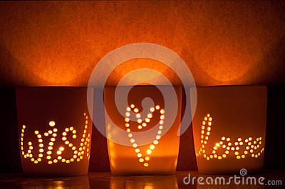 Candle lit cups.