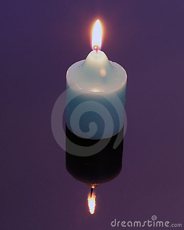 Candle Mirror Image