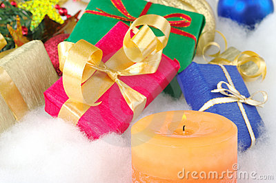 Candle and Presents